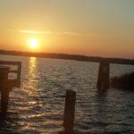Sonnenuntergang am Hafen in Wieck a.Darß