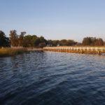 Der Wiecker Hafen bietet auch eine kleine Badestelle