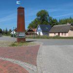 Die Hauptstraße in Wieck a.Darss -  Dorfmitte