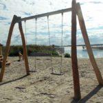 Am Wiecker Hafen ist auch ein kleiner Kinderspielplatz