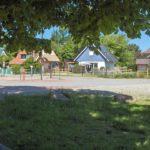 Blick auf unser Ferienhaus von der Darsser Arche aus